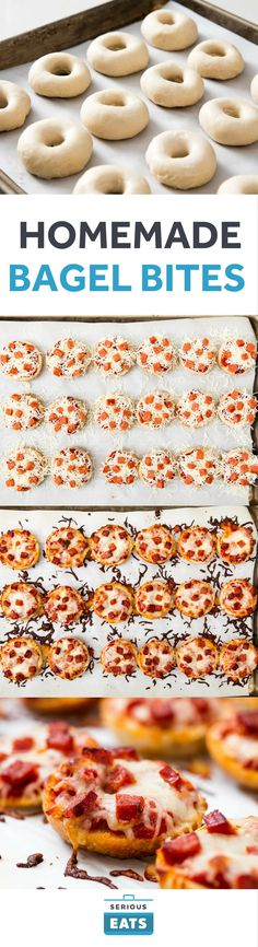When pizza's on a bagel, you can have pizza any time!