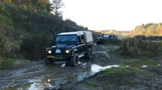 Land rover traffic jam