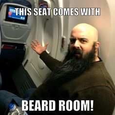Gotta get that exit row so there's room for the beard! That's how we do at Beard Friendly Beard Gifts, Beard Humor, Beard Oil, Online Gifts, Funny, Room, Oil For Beard, Ha Ha, Rooms