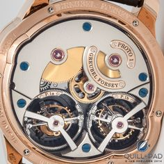 The view through the display back of the Greubel Forsey's Quadruple Tourbillon is as beautiful as the dial side
