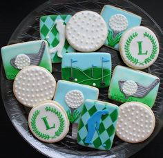 Golf cookies...maybe Himself will gets some golf cookies, if he behaves!
