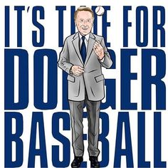 I added this pin because the Dodgers are my all time favorite baseball team and Vin Scully is a big name/face to the organization. Dodgers Baseball, Dodgers Shirts, Dodgers Gear, Dodgers Nation, Let's Go Dodgers, Dodgers Party, Los Angeles Dodgers, Dodger Blue, Better Baseball