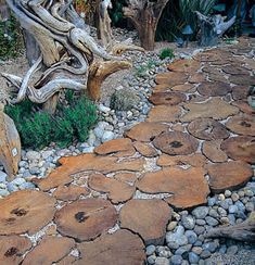 22 Ideas for MIxing Materials to Create Beautiful Yard Landscaping and Garden Paths eco friendly materials and backyard landscaping ideas for beautiful walkways and paths Front Yard Landscaping, Backyard Landscaping, Landscaping Ideas, Garden Arbor, Garden Paths, Terrace Garden, Amazing Gardens, Beautiful Gardens, Wood Path