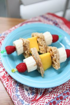 Fun breakfast idea for you and the kids! Breakfast Fruit Skewers (with whole gra… Fun breakfast idea for you and the kids! Breakfast Fruit Skewers (with whole grain waffles & nut butter) inspired by Produce for Kids. Vegetarian Breakfast, Breakfast Fruit, Breakfast For Kids, Best Breakfast, Breakfast Ideas, Breakfast Recipes, Power Breakfast, School Breakfast, Balanced Breakfast
