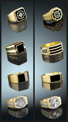 Mens Gold Rings, Mens Gold Jewelry, Key Jewelry, Jewelery, Gents Ring, Gold Ring Designs, Gold Chains For Men, Jewelry Trends, Fashion Rings