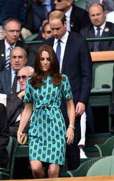 Prince William Duke of Cambridge and Catherine, Duchess of Cambridge in the Royal Box on Centre Court before the Gentlemen's Singles Final match between Roger Federer of Switzerland and Novak Djokovic of Serbia on day thirteen of the Wimbledon Lawn Tennis Championships at the All England Lawn Tennis and Croquet Club on July 6, 2014 in London, England.