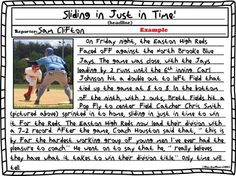 Students become a newspaper reporter as they pick a sheet, look at the picture, and then write their own news story depending on the assignment. $ #commoncore aligned