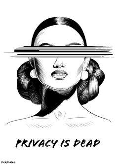 """Privacy is dead"" Artist @nelebalke Digital Portrait, Portrait Art, Illustrations, Artist, Movie Posters, Illustration, Artists, Film Poster, Billboard"