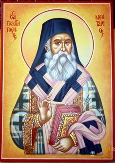 SFANTUL NEKTARIE Life Of Jesus Christ, Jesus Lives, Byzantine Art, My Works, Saints, Religion, Angels, Princess Zelda, Paintings
