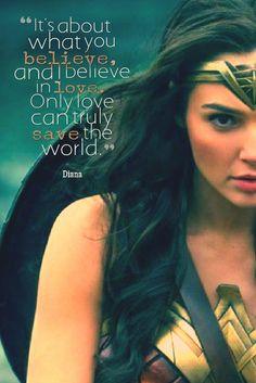 2017 Gal Gadot as Wonder Woman Wonder Woman Kunst, Wonder Woman Art, Gal Gadot Wonder Woman, Wonder Women, I Believe In Love, Love Can, Wonder Woman Quotes, Female Profile, Badass Women