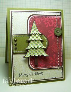 Christmas Tree Card Layout
