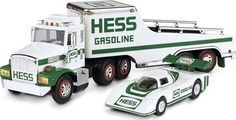 The Hess toy truck and racer set was released in 1988. By this time some people had amassed sizeable collections, and this was the first year Hess started adding the year to each truck's license plate for easy identification.
