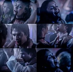 This is one of my favourite delena scenes cause Feel So Close by Calvin Harris is playing. Mode Vampire Diaries, Vampire Diaries The Originals, Delena, Damon Y Elena, Song Captions, Feel So Close, Fake Love, Damon Salvatore, Blue Aesthetic