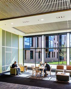University of Wisconsin Oshkosh - Horizon Village (New Residence Hall)    Study Lounge and Common Space