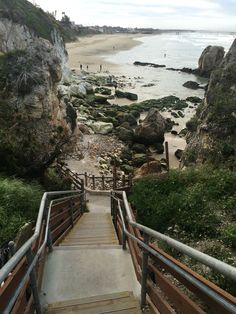 The stairs up from Pismo Beach