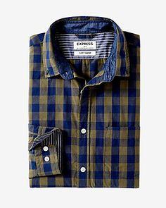soft wash small buffalo check shirt