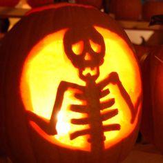 skeleton-halloween-creative-jack-o-lantern