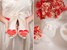 Red and white details