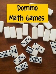 Dominoes for multiplications, for additions, for fractions, etc.   Fun Games 4 Learning: Domino Math Games. \