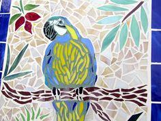 Parrot mosaic wall art. $120.00, via Etsy.