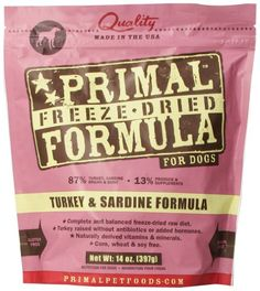 Primal Pet Foods Freeze-Dried Canine Turkey and Sardine Formula $26.39 (save $1.45)