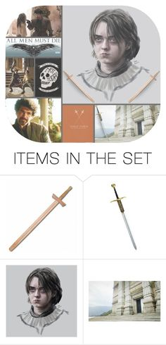 """""""Not Today"""" by deepwinter ❤ liked on Polyvore featuring art, GameOfThrones, got, AryaStark, Arya and syrioforel"""