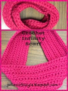 Julie's Lifestyle: 1 Skein Crochet Infinity Scarf & Pattern
