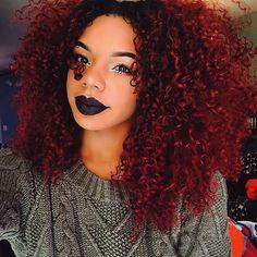 #hairinspiration #dope HAIR GOALS @sensualsierra Yasss! Got u, babe @mschanda ! We all love big hair! #inspiration #rp #repost #curls #curlyhair #makeup #rpgshow #haircolor #redhair #darklips #lipsticks #nicehair