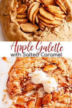 This warm and decadent Apple Galette with Salted Caramel Sauce is the perfect way to welcome fall! The base of this dessert is a lightly sweetened pie dough, topped with brown sugar, cinnamon, and apples. The addition of a homemade caramel sauce makes this recipe even more irresistible! #applegalette #applerecipe #caramelsauce Apple Recipes, Crockpot Recipes, Holiday Recipes, Homemade Caramel Sauce, Salted Caramel Sauce, Apple Galette, Apple Bars, Baker Recipes, Seasonal Food