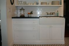 Open Shelves and Beautiful Countertops: The Gardener's Cottage