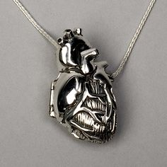 19 Stunningly Weird Pieces Of Anatomy Jewelry - I would love that real heart shaped necklace!