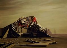 The Instant - Oil on canvas - Kay Sage, 1949 - Mattatuck Museum, CT - Pictify - your social art network