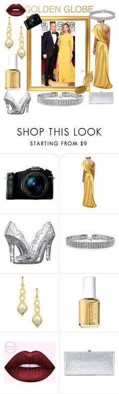 """Golden Globe Look 📷"" by nlo0724 ❤ liked on Polyvore featuring Sony, Cushnie Et Ochs, Dolce&Gabbana, Bling Jewelry, Essie, Jimmy Choo, Apples & Figs, contest, JLO and goldenglobe"