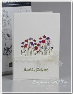 A Stampin' Up! Homemade Greeting Cards, Greeting Cards Handmade, Poppy Cards, Stamping Up Cards, Card Making Techniques, Sympathy Cards, Flower Cards, Diy Cards, Cardmaking