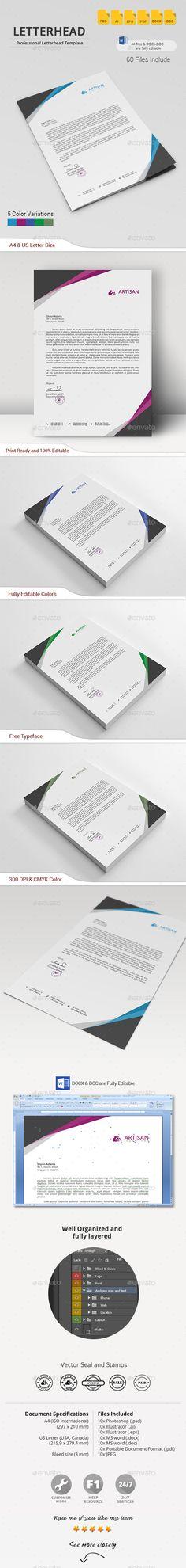Corporate Letterheads Bundle #4 Stationery printing, Print