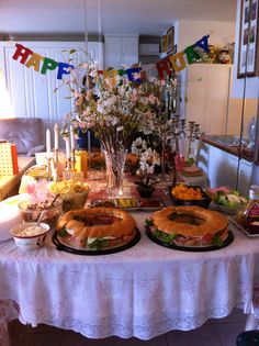 Buffett table for my Dad's 75th birthday party