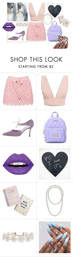 """""""P. S. I love you"""" by anelia-georgieva ❤ liked on Polyvore featuring Boohoo, Animale, Manolo Blahnik, Love Moschino, LunatiCK Cosmetic Labs, Tri-coastal Design and Humble Chic"""