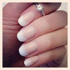 Sponged French tip.