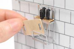 Miniature kitchen details in 1/12 scale