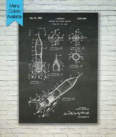 Rocket Print Patent Print Patent Poster by PatentPosterPrints