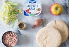 Lunchpita met Hüttenkäse-Tonijnsalade - OhMyFoodness