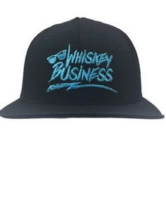 Whiskey Business Black Snapback Trucker Mesh Baseball Cap Hat Embroidered | eBay