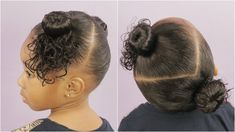 Two Bun Hairstyle - Hairstyle For Beginners [Video] - Black Hair Information Hairstyle For Girls Video, Two Buns Hairstyle, Easy Bun Hairstyles, Hairstyle Tutorials, Hairstyle Ideas, Hair Romance, Luscious Hair, Let Your Hair Down, One Hair