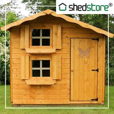 Summer is almost here and, if they haven't started already, the kids will be spending more time in the garden soon. The Windsor Snowdrop Cottage Playhouse is the perfect space to let their imaginations run wild. With two storeys, it's perfect for mini picnics or playing with toys! Kids Wooden Playhouse, Garden Playhouse, Shiplap Cladding, Apex Roof, Roofing Felt, Garden Buildings, Dcor Design, Wooden Garden, Window Boxes