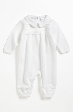 Faithclover Christening Outfit for Baby Boy One Piece Set Longall with Hat