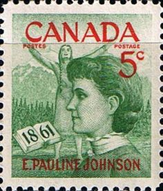 Canada 1961 Pauline Johnson Fine Mint SG 518 Scott 392 Other North American and British Commonwealth Stamps HERE!