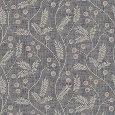 Maj - Dark Grey wallpaper, from the Gotheborg collection by Sandberg Dark Grey Wallpaper, Daisy Wallpaper, Map Wallpaper, Islamic Patterns, Textile Patterns, Print Patterns, Touch Of Gray, Pattern Drawing, Pattern Illustration