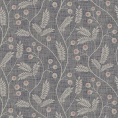 Maj - Dark Grey wallpaper, from the Gotheborg collection by Sandberg