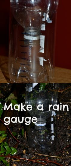 How to make a super simple rain gauge #Science #Weather