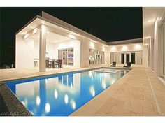 My ideal floor plan   U-shaped home   private courtyard   pool   waterfront